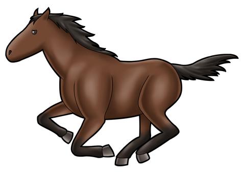 달리는 말