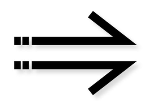 Arrow _ Warp _ Black