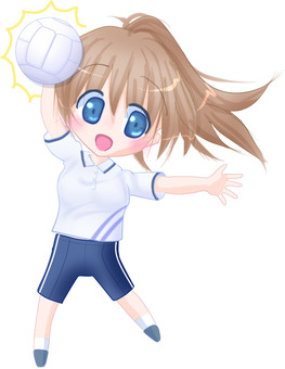 Illustration material to attack with volleyball 2