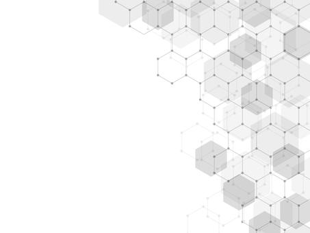 背景 六角形 モノクロ