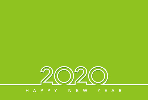2020 년 연하장 템플릿
