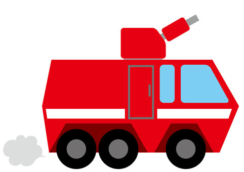 Chemical fire truck