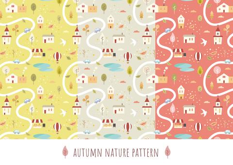 가을 배경 패턴 006 거리 단풍