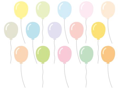 Balloons (pastels)