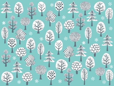 북유럽 터치의 나무 무늬 _ 겨울
