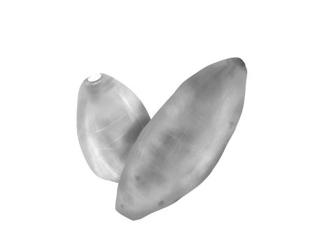 Real sweet potato (black and white)