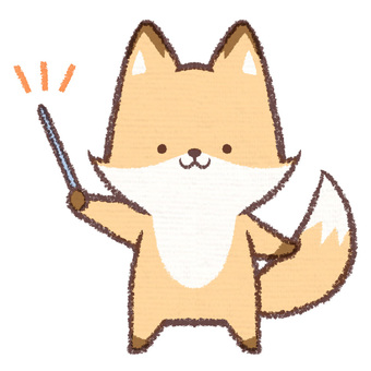 A pointing fox