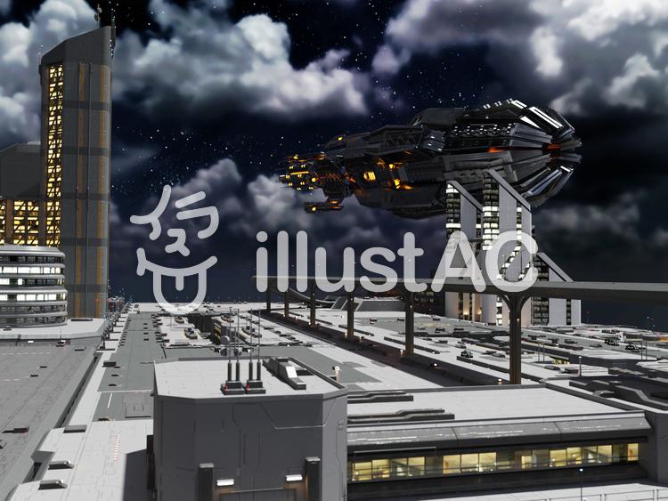 都市背景のイラスト