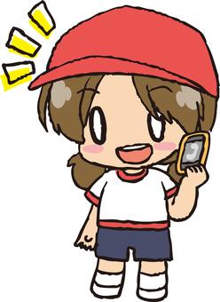 紅色女孩女孩1(電話1)