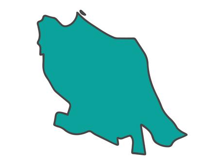 Nakahara Ward (Kawasaki Prefecture Kawasaki City) Simple Map