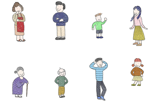 Family illustration cut collection