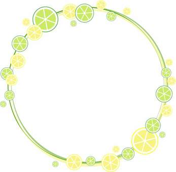 Lemon and lime frame