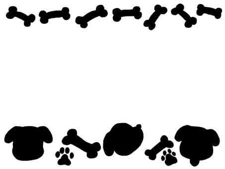 Dog frame monotone bone animal