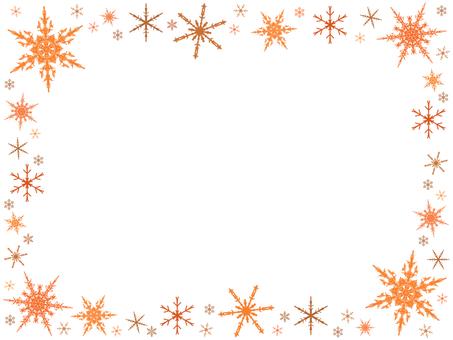 Snow crystal frame 6
