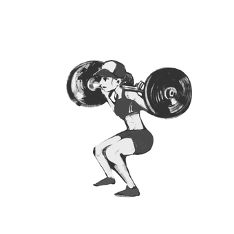 Barbell squat (female)