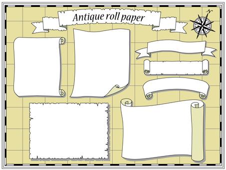 Antique scrolls / parchment-like wind set