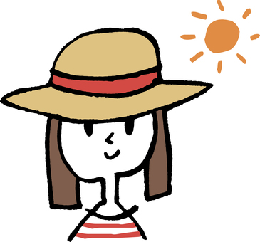 A girl wearing a hat