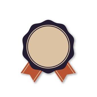 Brown ribbon emblem