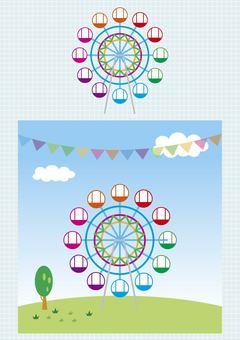 Ferris wheel illustrator