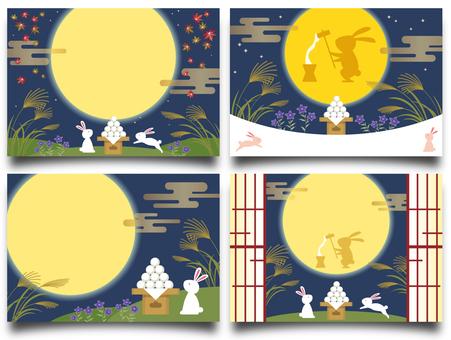 うさぎのお月見(カード