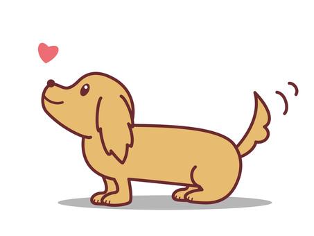 しっぽを振る犬 イラスト