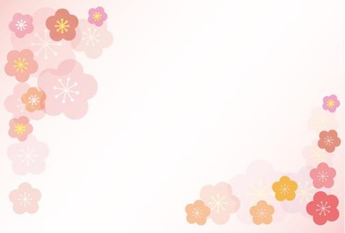 Plum blossom background 2