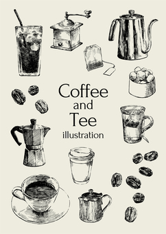 Coffee and tea illustration