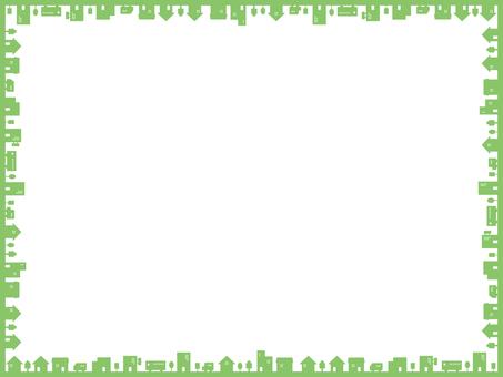 簡單的城市景觀框架綠色