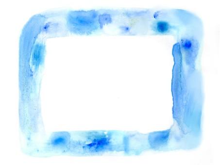 수채화 사각형 테두리