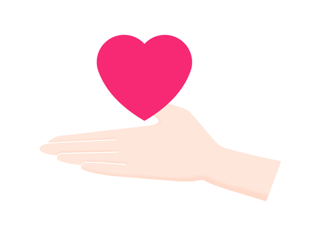 Heart on the palm of your hand