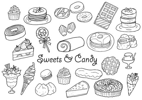 Sweets illustration set