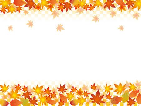 Papel japonés _ patrón de hojas de otoño _ CS 6