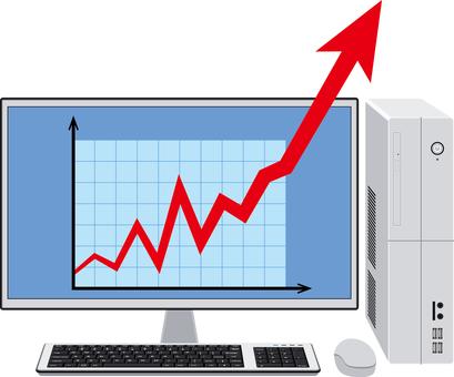 Graph-up desktop computer