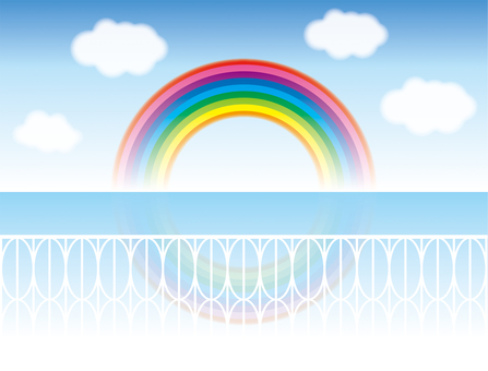Rainbow-visible bridge