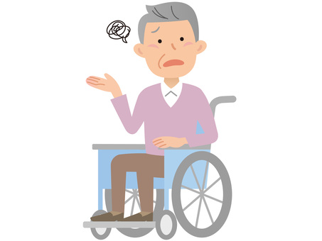 60117. 남성 휠체어, 모야 모야