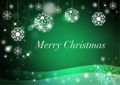 Christmas _ green _ background