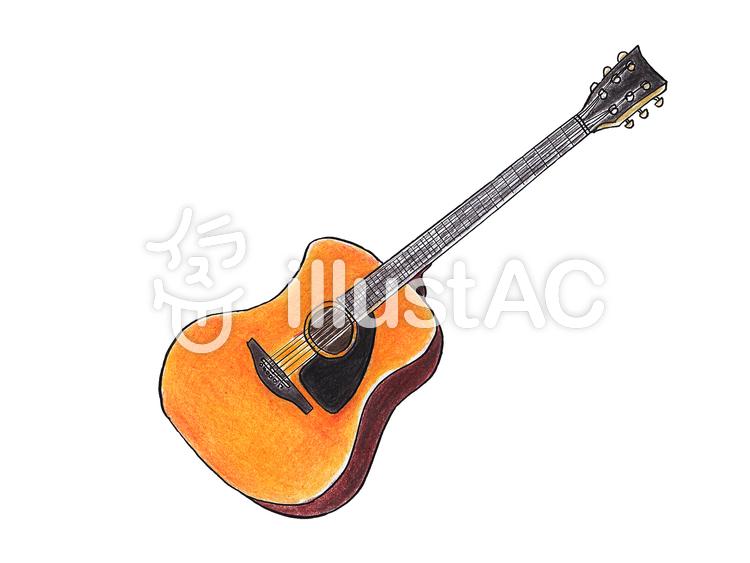 アコースティックギターイラスト No 1229488無料イラストなら