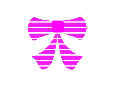 Cute bright purple ribbon