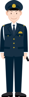 Policeman officer school uniform winter clothes