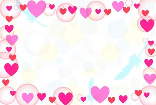 Heart frame of polka dot background