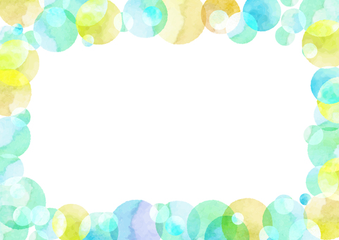 Watercolor Path Material 015 Polka Fluffy Frame