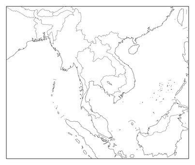 Thailand blank map