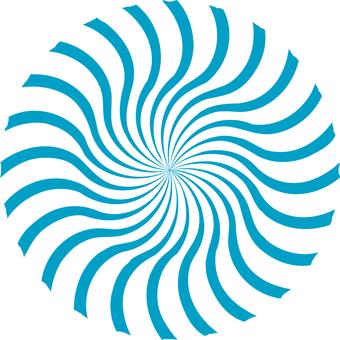 A winding round circle