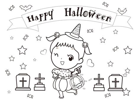 Coloring book ⑥ (Halloween)