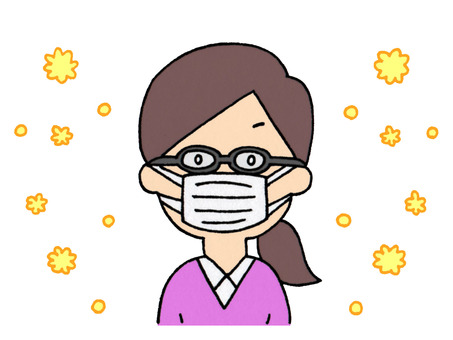 Woman with hay fever (measures against pollen)
