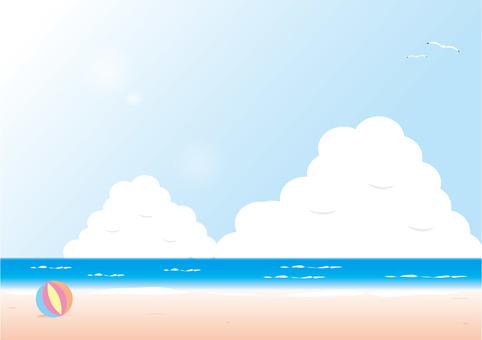 背景3 V _夏天_與雲