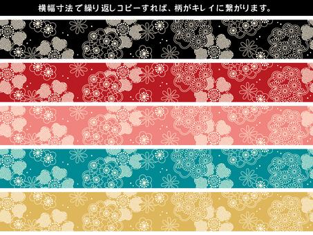 Japanese Pattern Decorative Ruled Set 02