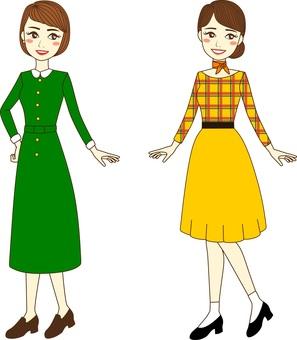 Retro fashion ladies
