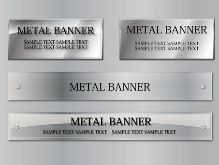 Banner set metal iron metal steel
