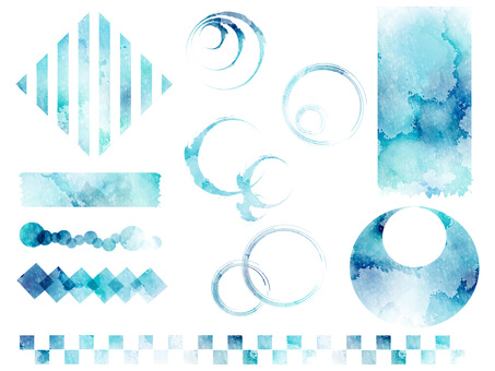 Watercolor background set ver 04